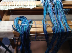 tying on a new warp