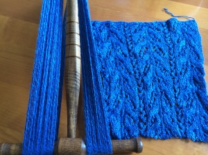 Reverting from scarf to usable yarn.  No regrets